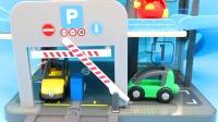糖糖猪猪侠玩具 第196集 大型多功能停车场套装,猪猪侠洗车加油