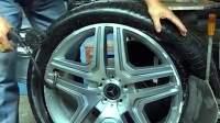 奔驰的轮胎,没有气为什么会是五角形?百思不得其解