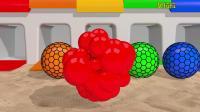 宝宝学颜色:挤压球与彩色管