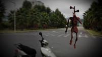 骑个摩托遛个弯,没想到又遇到警笛头