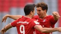 德甲-莱万完美帽子戏法萨内世界波 拜仁5-0主场大胜