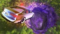 3D动画模拟:不同车子掉进最深洞穴,下场一个比一个惨!