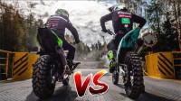 山地摩托车和赛摩越野对比,技术流大神展示