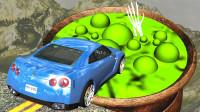 """汽车飞跃""""孟婆汤""""会发生什么?3D动画模拟,场面太刺激了!"""