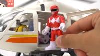 恐龙战队机器人玩具 驾驶飞机对战坏蛋昆虫