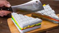 美食达人新创意,用键盘制作美味三明治,简直太神奇了!
