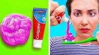 情侣花式恶搞对方,竟把史莱姆挤在牙膏上,结果你猜怎么着?