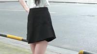 大街上无意中拍到的美女,这大长腿也是没谁了,美美哒