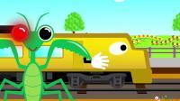 成长益智玩具,火车在轨道上行驶遇到螳螂,化身轨道交通指挥灯!