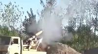 敘利亞戰爭實拍:叛軍對抗政府軍的卡車炮,威力好猛毫不示弱!