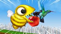 变异小蜜蜂逃出容器,展开惊人的吞食行动