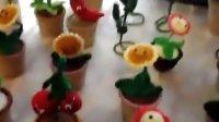[拍客]牛人手编毛线植物大战僵尸玩偶供不应求