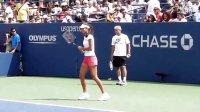 2011美国网球公开赛 伊万诺维奇赛前训练 3