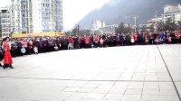 陕西汉中镇巴苗乡广场交谊舞慢三《月光下的凤尾竹》