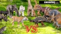 [咯咯玩具] 韓國玩具 - [第2季] 侏罗纪世界 2集 : 老虎 vs 美甲龙属