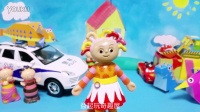 花园宝宝之汽车总动员手工制作警车 乐高玩具 折纸玩具