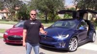 Tesla Model S P90DL vs X P90DL 夫妻1/4英里极速对决 [HD]