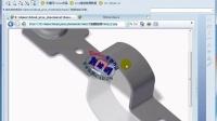 ProE钣金设计自学入门视频教程第十二课:门链固定架建模实例