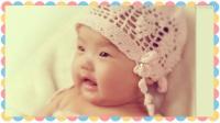 燕子手工:小女宝宝的钩针的小帽,正是要戴的时候