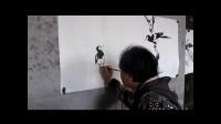 宋鲁民画喜鹊梅花视频