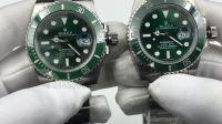 N厂V7版本绿水鬼潜航者SUB对比正品-三维复刻