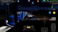 重型卡车模拟-奔驰 Axor 2644 6x4 夜间全挂运输-路面好多坑