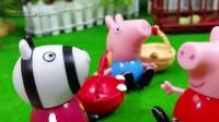 粉红猪小妹偷吃了僵尸的水果 佩佩猪被僵尸关进笼子里