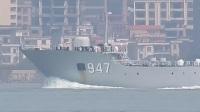 南海舰队947(庐山号)舰艇编队通过虎门大桥