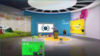 U-Studio/U-Caster 展示 | 虚拟白板 | 虚拟演播室 教育 课堂 演讲 直播软件