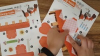 儿童3D折纸【西餐厅】龙虾 红酒 手工益智 亲子互动 美乐 儿童玩具 剪纸 创意DIY