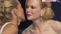 戛纳抗艾滋晚宴众星云集 基德曼与莎朗女女贴面吻 130525