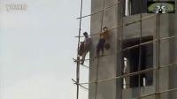实拍:印度阿三又开挂 建筑工人吊炸天施工