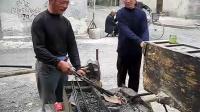"""【拍客】山东鲁南地区传统老手艺""""铁匠"""""""