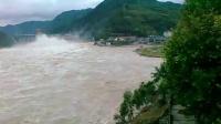 实拍 陕西省石泉洪水