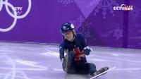 短道速滑英国选手克里斯蒂再次受伤遗憾离场