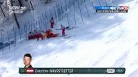 自由式滑雪男子障碍追逐赛 奥地利选手受伤
