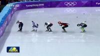 平昌冬奥会:短道速滑男子500米武大靖破奥运纪录晋级 180221