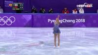 花样滑冰女子单人滑自由滑 中国队李香凝表现