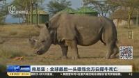 肯尼亚:全球最后一头雄性北方白犀牛死亡 新闻夜线 180320
