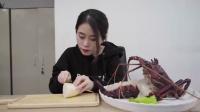 办公室小野土豪龙虾宴,极品澳龙肉太多,直接萌萌