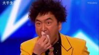 英国达人秀一魔术师表演一段中国的街头杂技~惊爆全场