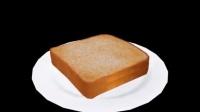 初音被粘在面包片的馅料上
