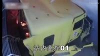 监控实拍:大货车冲进加油站,引发大火!