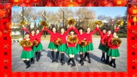 陕西美丽人生十人队形舞《中华全家福》原创正反面附教学