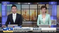 特斯拉应声全线降价:最高降9万 上海早晨 180523