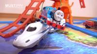 tomy多美托马斯和新干线火车比赛流线型托马斯电动小火车赛跑新干线列车动车火车