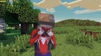 MC动画-真人史蒂夫在MC中遭遇真人苦力怕-Spiderman Real Life Superhero