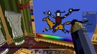 【小枫的Minecraft直播精华】我的世界-像素画板.EP5-画猪第一人