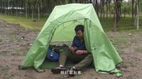 驴友自购国产挪客云尚3三人帐篷搭建及防雨测试