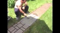 国外的自家花园小路, 老外用水泥就做出砖块效果